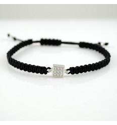 Macrame white gold bracelet and diamond 4424