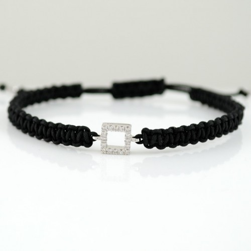 Macrame white gold bracelet and diamond 4415