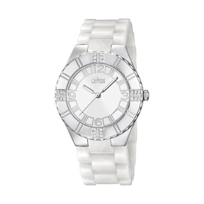 Reloj lotus trendy mujer policarbonato blanco 15909 1 - Policarbonato blanco precio ...