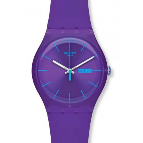 Swatch New Gent watch PURPLE REBEL SUOV702