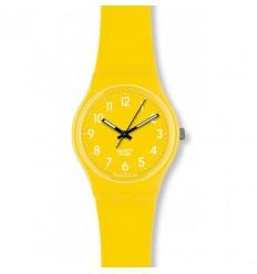 Yellow plastic swatch watch, Swatch Original Gent Lemon Time, GJ128
