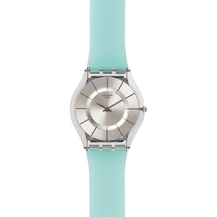 reloj swatch extraplano summer breeze coleccin skin sfk