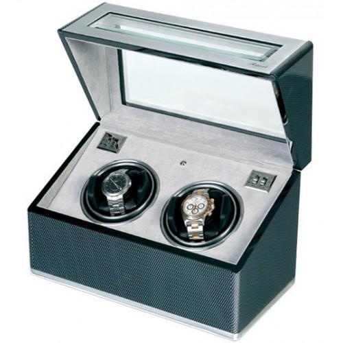 Duo carbon fiber watch box. W252