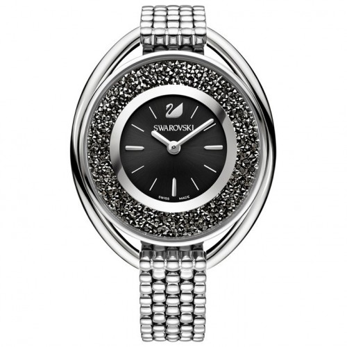 Swarovski Crystalline Oval Black 5181664 watch in polished stainless steel