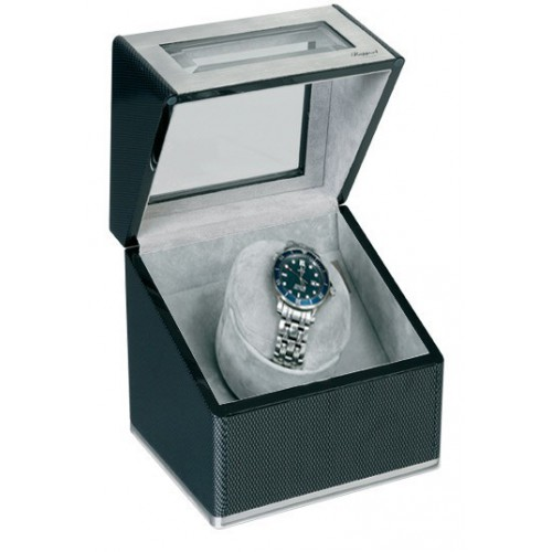 Carbon fibre automatic watch box. W116