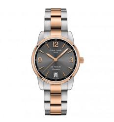 Certina DS Podium watch C03421022008700 grey and bicolor bracelet