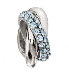 Beading RINGS aquamarine. 2083 - 0132