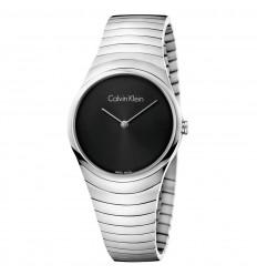 Calvin Klein Women Whirl watch K8A23141 steel black dial