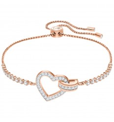 Swarovski Lovely bracelet 5368541 White crystals Rose gold plating