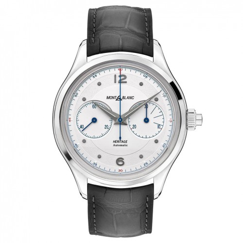 Montblanc Heritage Monopusher Chronograph watch 119951 leather strap