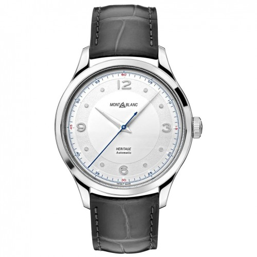 Montblanc Heritage Automatic watch 119943 White dial Leather strap