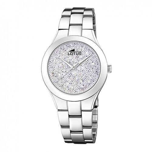 Lotus Bliss Watch 18656/1 Steel bracelet Silver dial Swarovski crystals