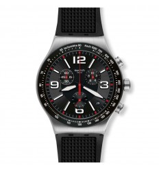 Swatch Irony VERY DARK GRID watch YVS461 Chrono black colour