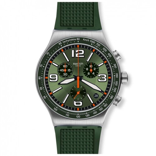 Swatch Irony FOREST GRID watch YVS462 Chrono green colour