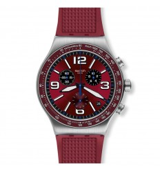 Swatch Irony WINE GRID watch YVS464 Chrono burgundy color