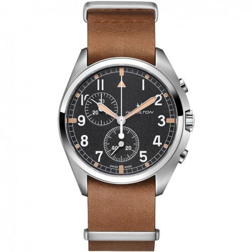 Hamilton Khaki Aviation Pilot Pioneer watch Chrono Quartz H76522531