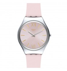 Swatch Irony SKIN LAVANDA watch pink color gold indexes SYXS124