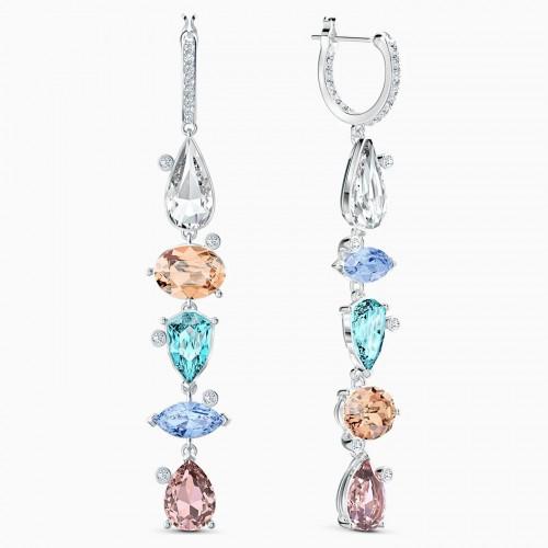 Swarovski Sunny hoop earrings 5520490 Multi-colored Rhodium plating