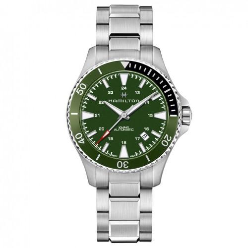 Hamilton Khaki Navy Scuba Auto watch H82375161 Steel Green dial