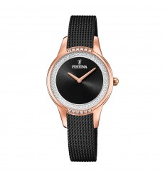 Festina Mademoiselle F20496/2 rose gold steel and zircons black dial