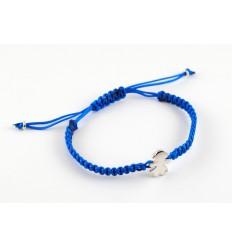 Turquoise Silver Macrame bracelet Insona girl BR511INA01
