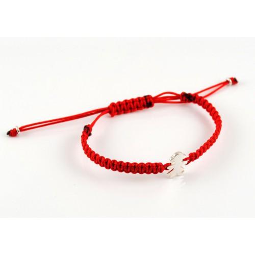 Silver red Macrame bracelet Insona girl BR505INA01