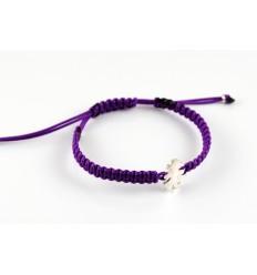 Bracelet silver Macrame lilac Insona girl BR504INA01