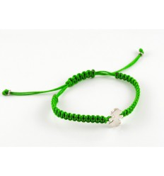 Silver Macrame bracelet green Insona girl BR510INA01