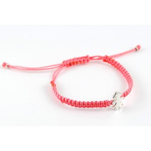 Bracelet silver Macrame Rosa Insona girl BR509INA01