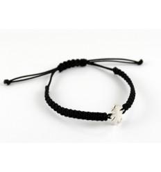 Black Silver Macrame bracelet Insona girl BR502INA01