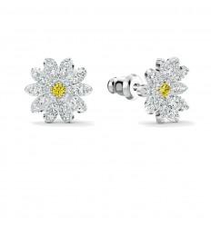 Swarovski Eternal Flower earrings 5518145 Yellow White Rhodium plated