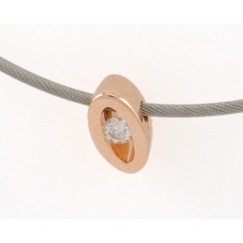 Pendant rose gold and diamond C2175