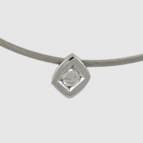 Pendant white gold and diamond C2179