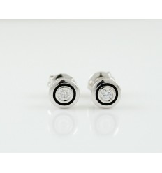 Earrings white gold and diamonds R3746
