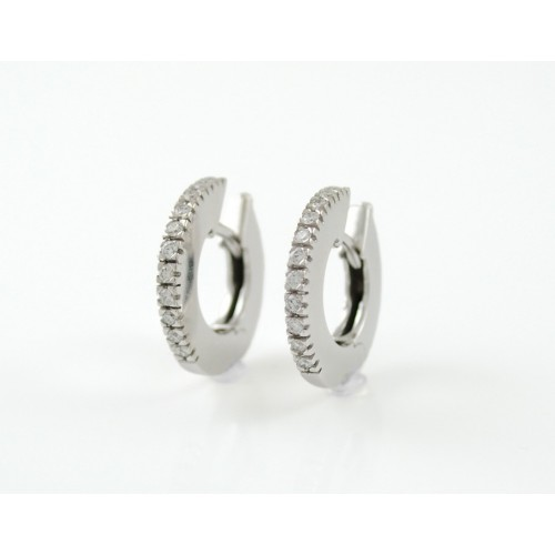 Earrings white gold and diamonds R2111
