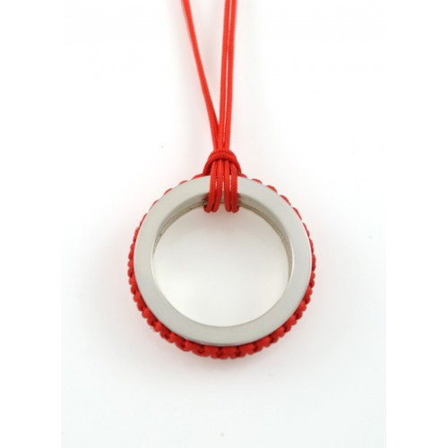 Pendant silver Mikrama color red PJ5005MI01