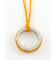 Pendant silver Mikrama color mustard PJ5008MI01