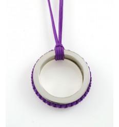 Pendant silver Mikrama color lilac PJ5004MI01
