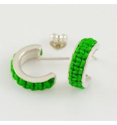 Earrings silver Mikrama green AR5010MI01