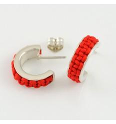 Earrings silver Mikrama red AR5005MI01