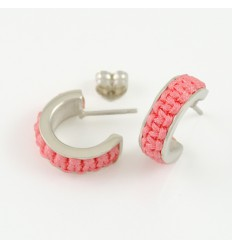 Earrings silver Mikrama pink AR5009MI01
