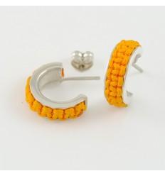 Earrings silver Mikrama color mustard AR5008MI01