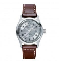 Hamilton khaki field automatic watch silver dial 38mm H70455553