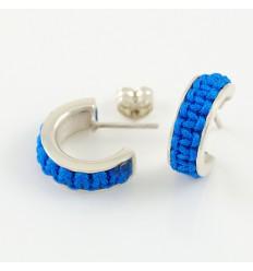Silver Mikrama AR5011MI01 turquoise earrings