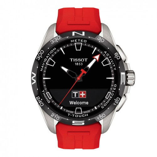 Tissot T-Touch Connect Solar watch red silicone strap T1214204705101