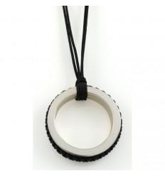Pendant silver Mikrama black PJ5002MI01 color