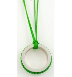 Pendant silver Mikrama color green PJ5010MI01