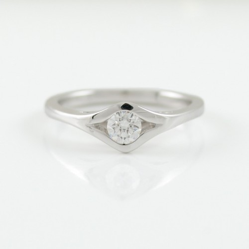 Ring Solitaire white gold with diamond A5510