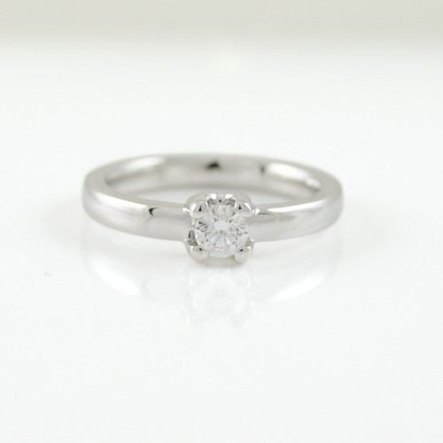 Ring Solitaire white gold with diamond A5382