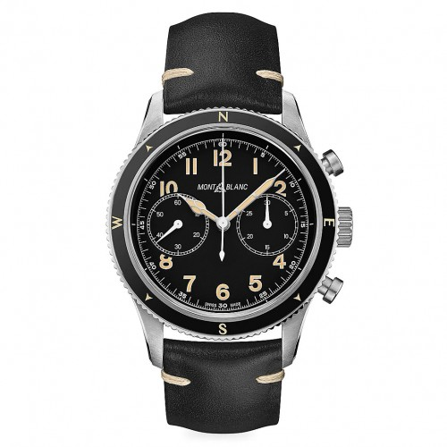 Montblanc automatic watch 1858 black dial 42mm limited edition 126915